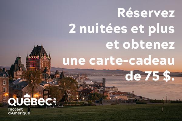 Profitez du Québec pour nous! Carte cadeaux de 75$